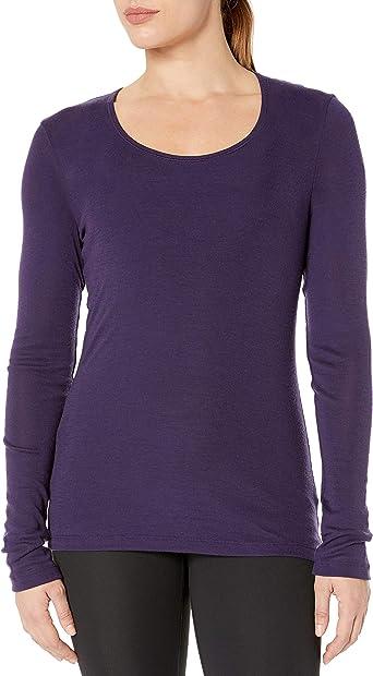 Merino Wool Icebreaker Merino Womens Everyday Base Layer Long Sleeve Scoop Neck Shirt