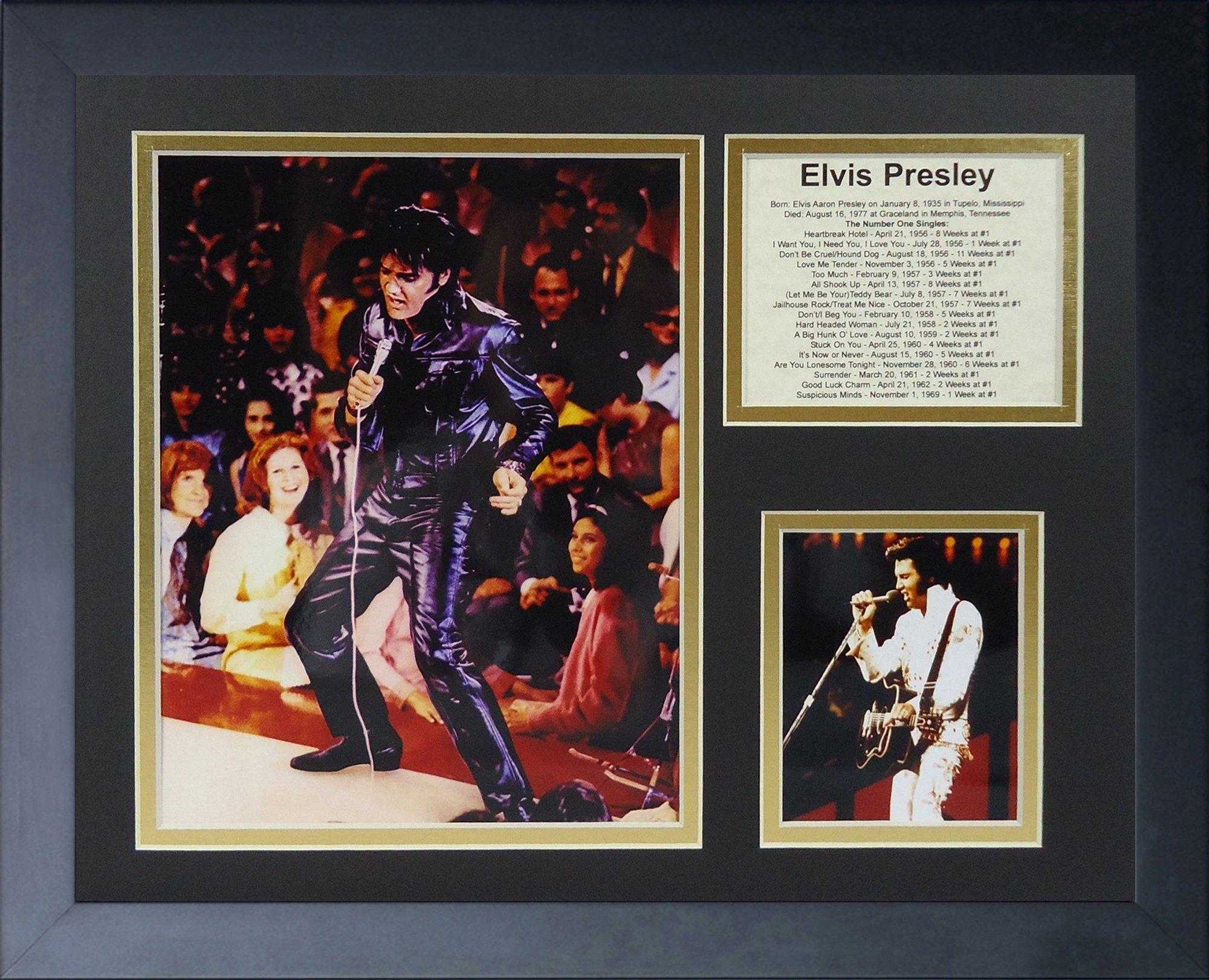 Legends Never Die Elvis Presley In Concert Framed