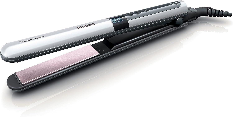 Philips HP8361/00 - Plancha de pelo ProCare Keratin con tecnología de queratina, placas con vibración suave, 230º, ionizador y calentamiento rápido