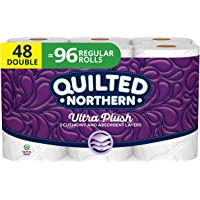 Quilted Northern Ultra Plush Toilet Paper, Pack of 48 Double Rolls (Four 12-roll packages), Equivalent to 96 Regular…