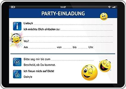 Juego de 6 divertido Tablet de tarjetas de invitación (10663) con ...