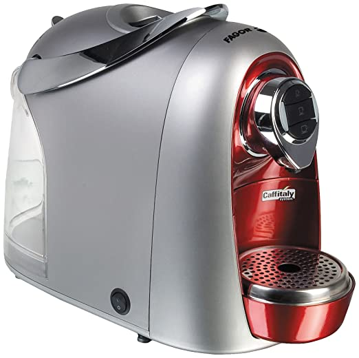 Fagor - Cafetera Capsulas Stracto Cca15R, 15 Bares, Deposito Agua 14,2L. Silver Rojo.