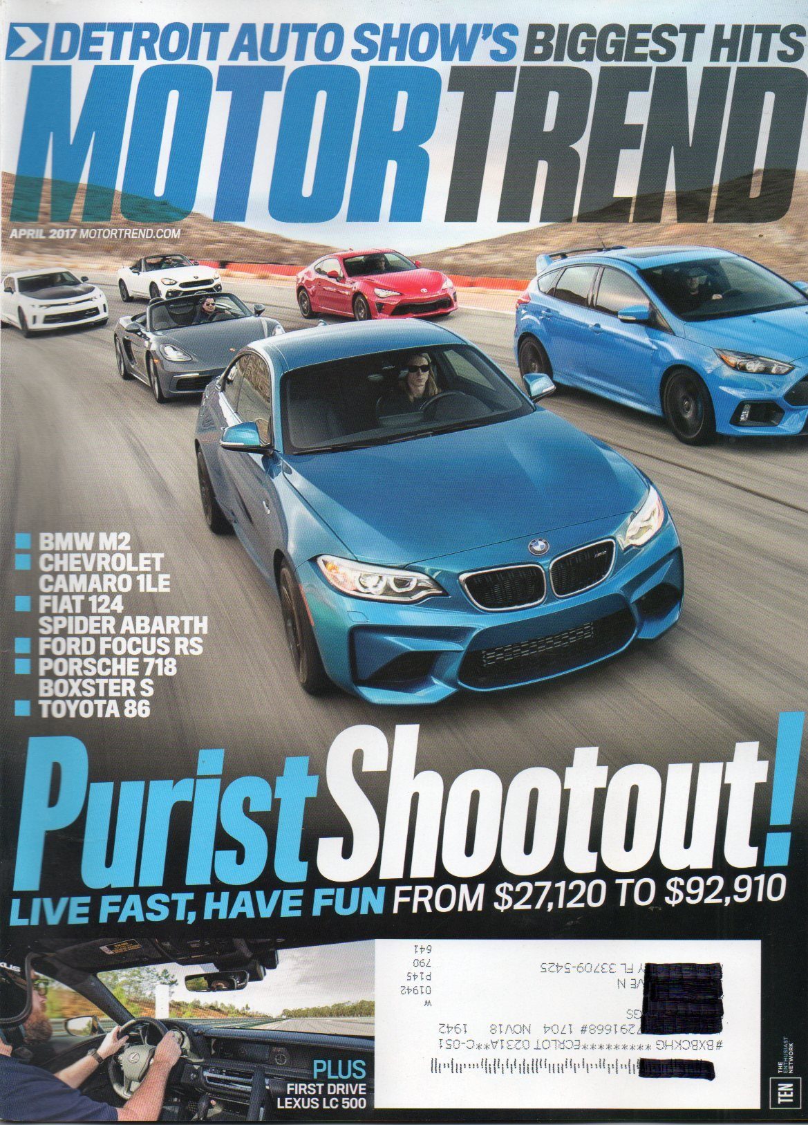 Download Motor Trend Magazine 2017 WHEN CONCEPT MEETS REALITY: 2018 LEXUS LC 500 AND LC 500h LEXUS NEW COUPE POINTS THE WAY FORWARD ebook