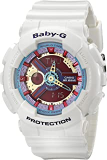 Casio G Shock Womens BA-112-7ACR Baby-G Analog-Digital Display