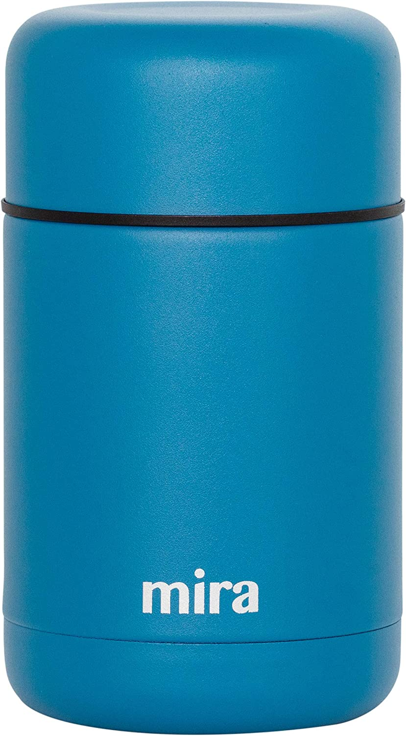 MIRA 25 oz Lunch, Food Jar, Vacuum Insulated Stainless Steel Lunch Thermos, Hawaiian Blue