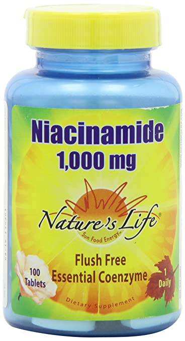 Nature's Life Niacinamide, 1000 mg | Non Flushing Vitamin B3 Niacin  Supplement | 100 Vegetarian