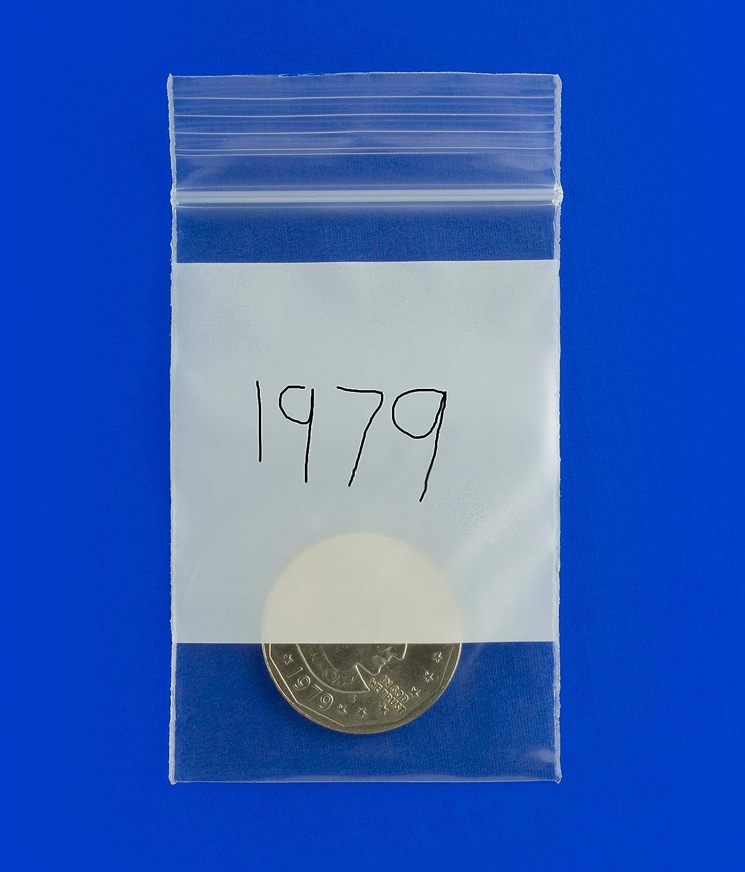 mit Rei/ßverschluss Blau 1000-3,8 x 3,8 cm 2 mm PLASTIC ZIPLOCK BAGGIES Plastikbeutel transparent