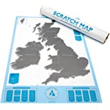 Scratch Map  UK & Ireland Edition Personalised Map By Luckies