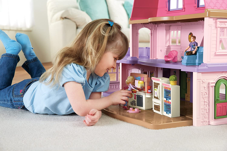 Loving Family Kitchen Furniture Amazoncom Fisher Price Loving Family Kitchen Toys Games
