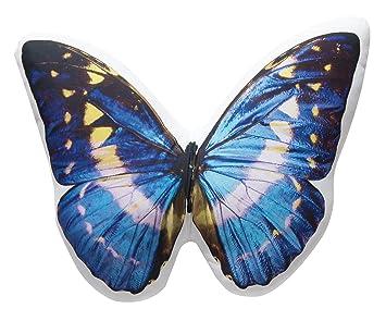Amazon.com: Encantadora Mariposa Azul almohada photo ...