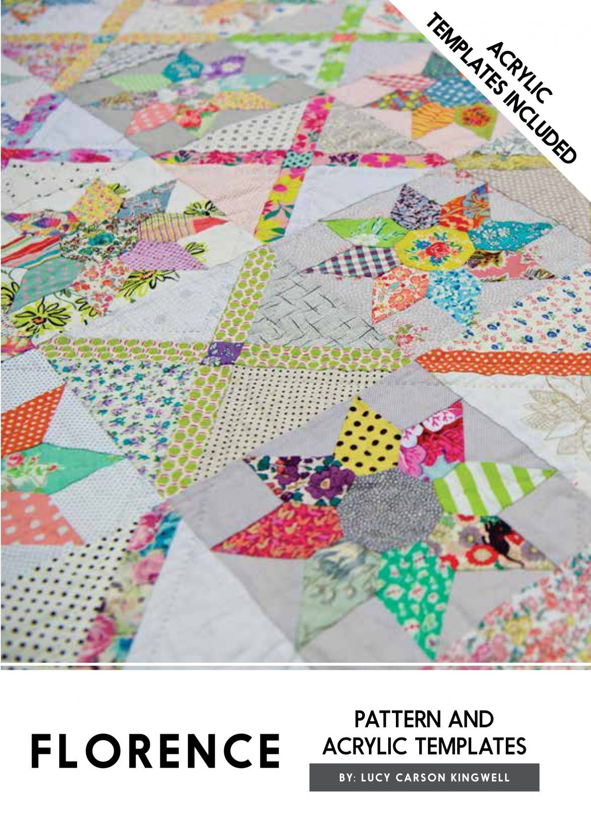 Florence Pattern Acrylic Templates Instructions Jen Kingwell Quilting by Jen Kingwell