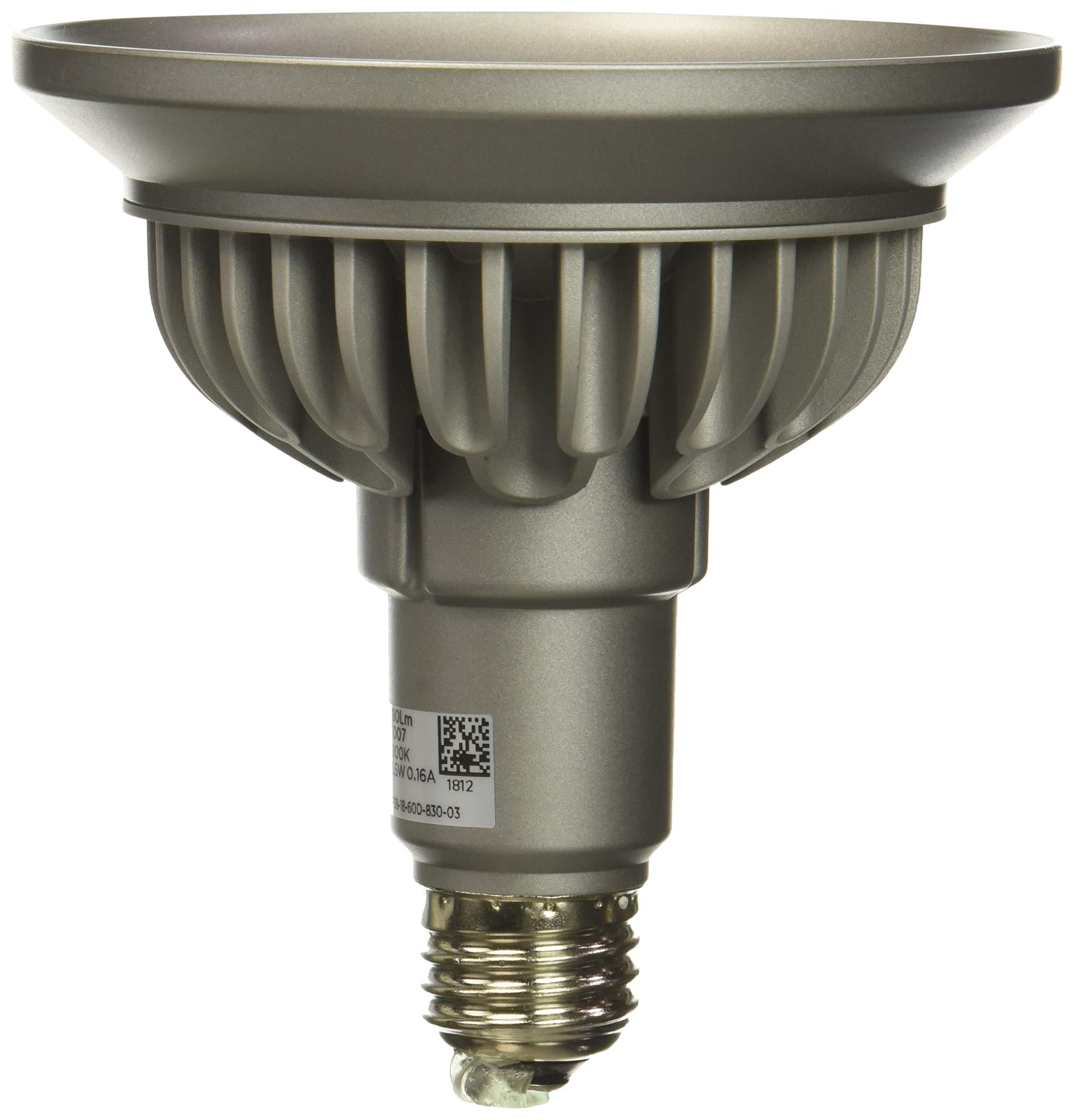 Bulbrite SP38-18-60D-830-03 SORAA 18.5W LED PAR38 3000K PREM. 60° Dimmable Light Bulb, Silver