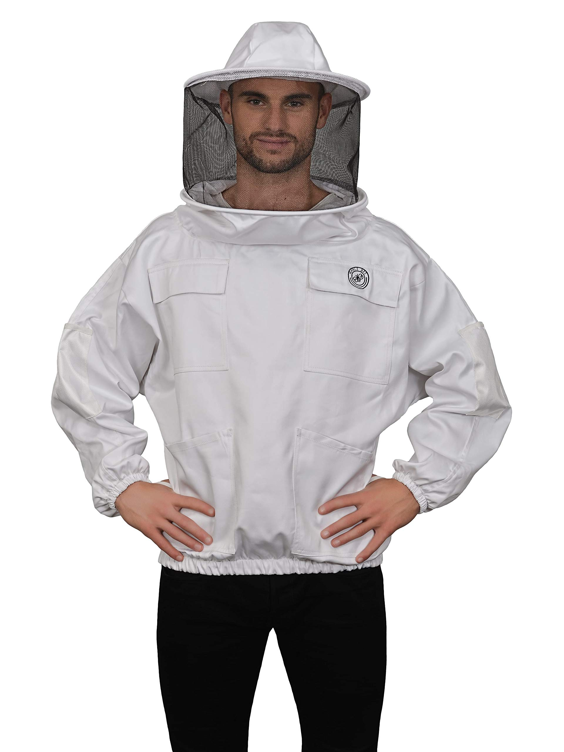 Humble Bee 510 Polycotton Beekeeping Smock with Round Veil by Humble Bee
