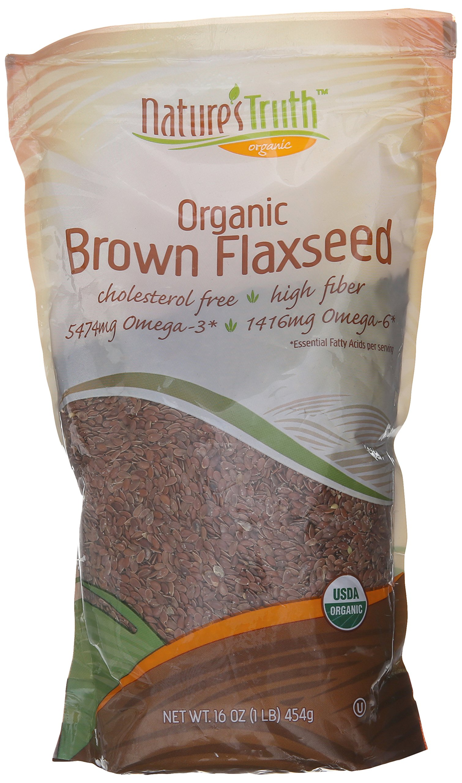 Nature's Truth Whole Brown Flax Seed, 16 Ounce