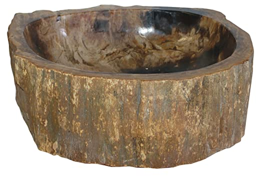 Eden Bath S028PW P Natural Stone Sink   Petrified Wood   Vessel Sinks    Amazon.com
