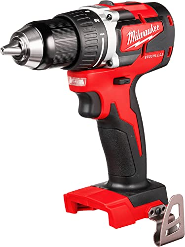 Milwaukee M18 18-Volt Lithium-Ion Brushless Cordless 1 2 Inch Compact Drill Driver Tool-Only 2801-20