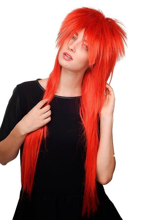 WIG ME UP ® - Peluca, años 80, rojo, glamour, glamoroso,