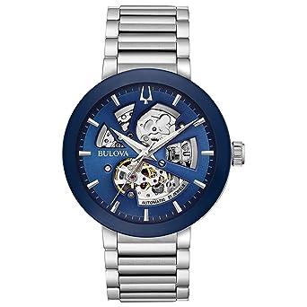 Stainless Modern Bulova Watch 96a204Amazon Automatic Men's Steel srxBCtQhd