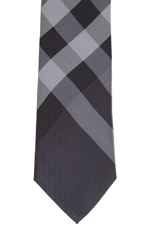 Burberry corbata de hombre en seda nuevo manston gris: Amazon.es ...