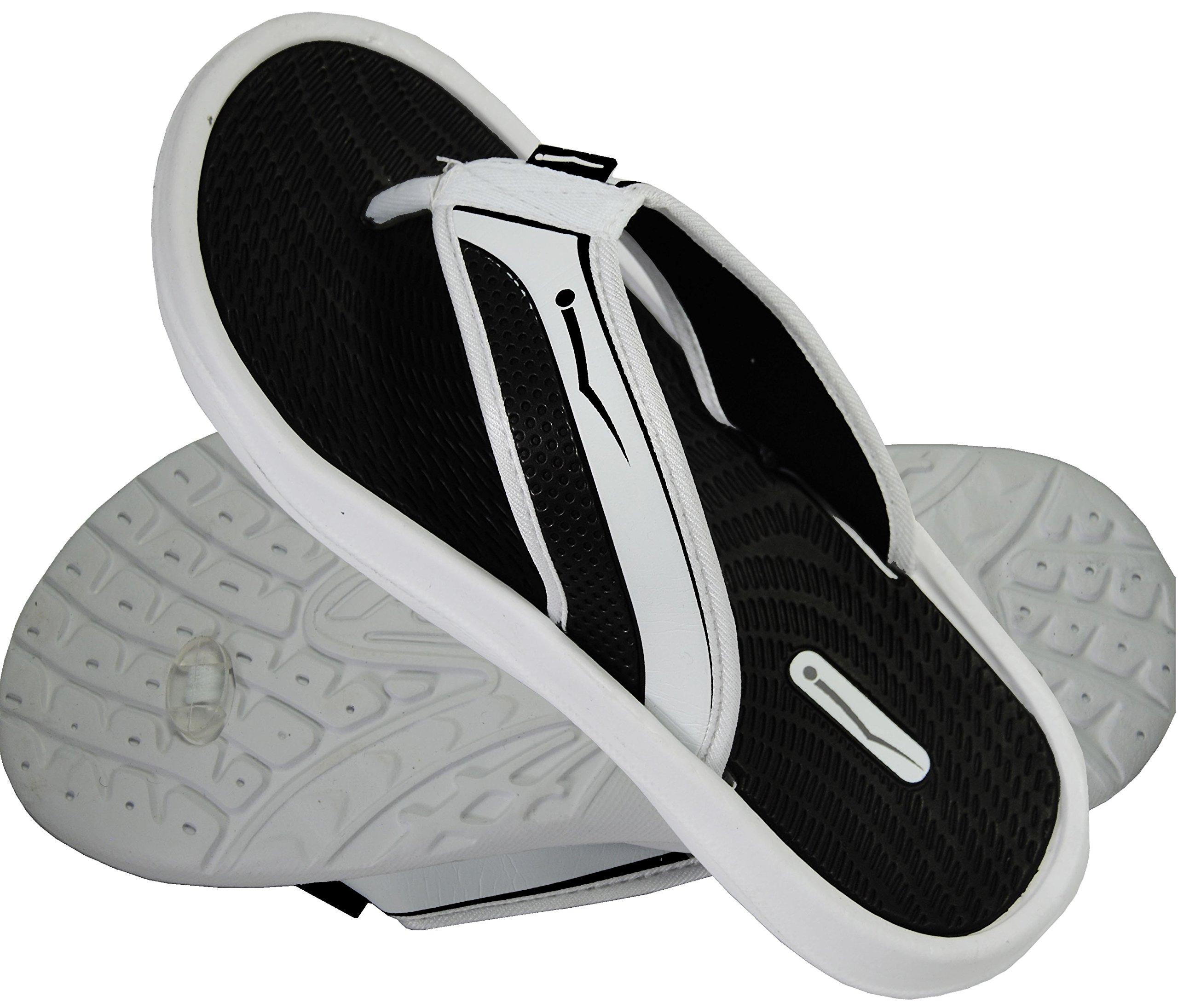 Flip Flops Men's Rubber Comfortable Shower Summer Beach Lightweight Casual Sandals (11, White)