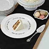 Mud Pie Cake Plate Set, White