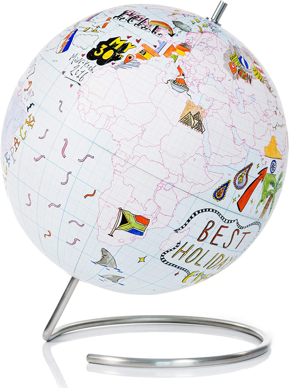 SUCK UK Globe Journal Multicolor Small