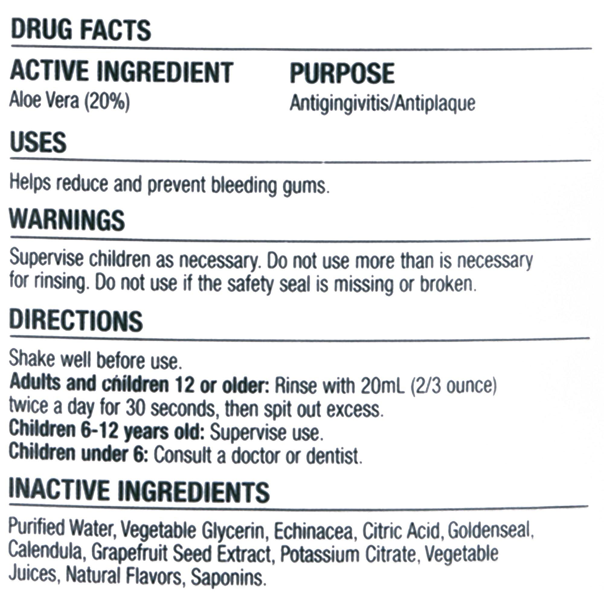 The Natural Dentist Healthy Gums Antigingivitis Mouthwash, Orange Zest, 16.9 Ounce Bottle (Pack of 3), Alcohol-Free Mouthwash for Daily Use, Treats Bleeding Gums and Fights Gingivitis, 20% Aloe Vera by Natural Dentist (Image #3)