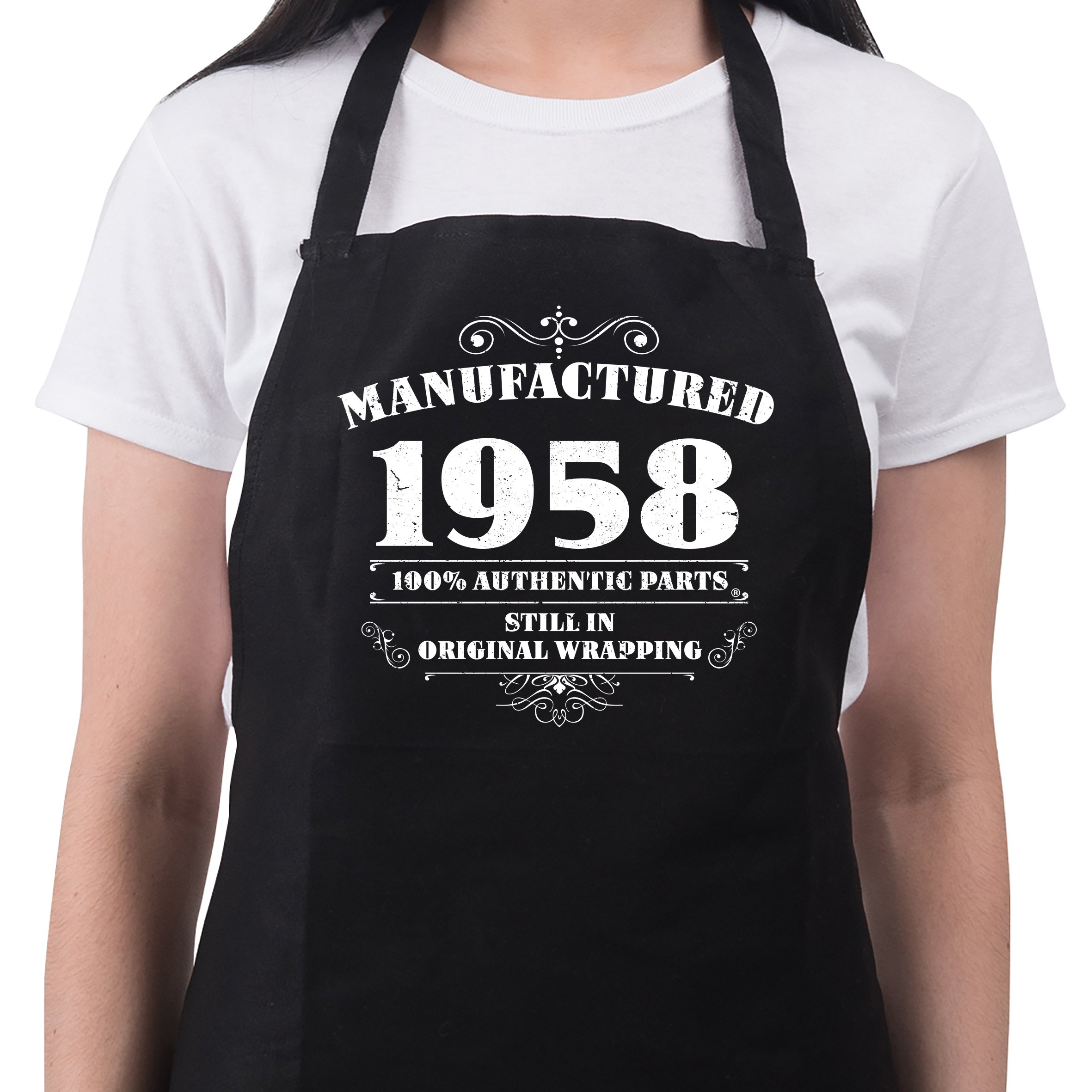 Women's 60th Birthday Gift Apron Manufactured 1958 Aprons 60th Birthday Gifts