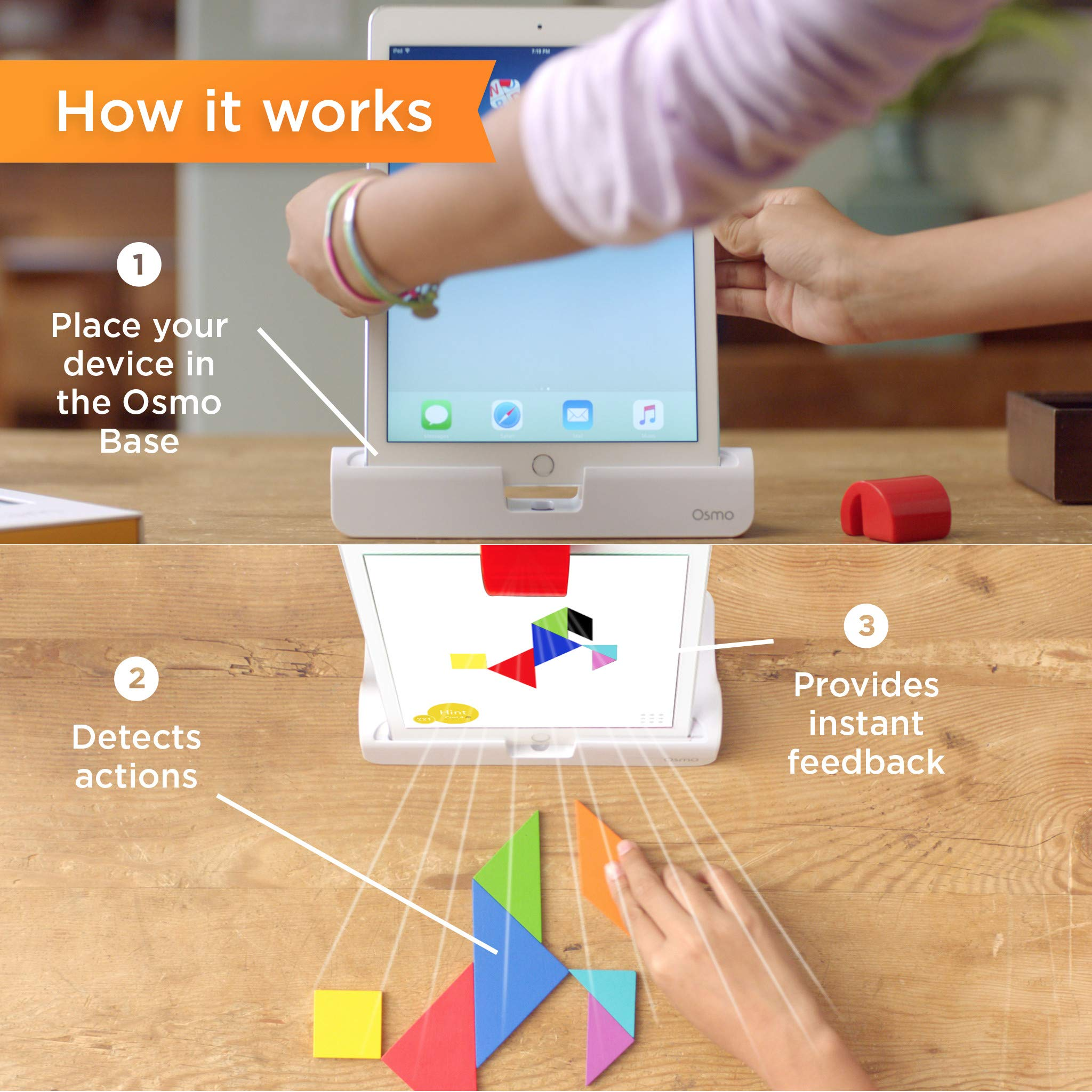 Osmo - Creative Kit for iPad - 3 Hands-On Learning Games - Ages 5-10 - Creative Drawing & Problem Solving/Early Physics - STEM - (Osmo iPad Base Included) by Osmo (Image #5)