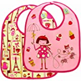 Sugarbooger Mini Bib Gift Set, Cupcake, 2 Count