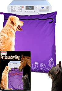Joymaney Pet Laundry Bag | Stops Pet Hair Blocking The Washing Machine | Jumbo Size Wash Bag Ideal for Dog Cat Horse | Hair Remover Safely