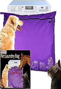 Joymaney Pet Laundry Bag   Stops Pet Hair Blocking The Washing Machine   Jumbo Size Wash Bag Ideal for Dog Cat Horse   Hair Remover Safely