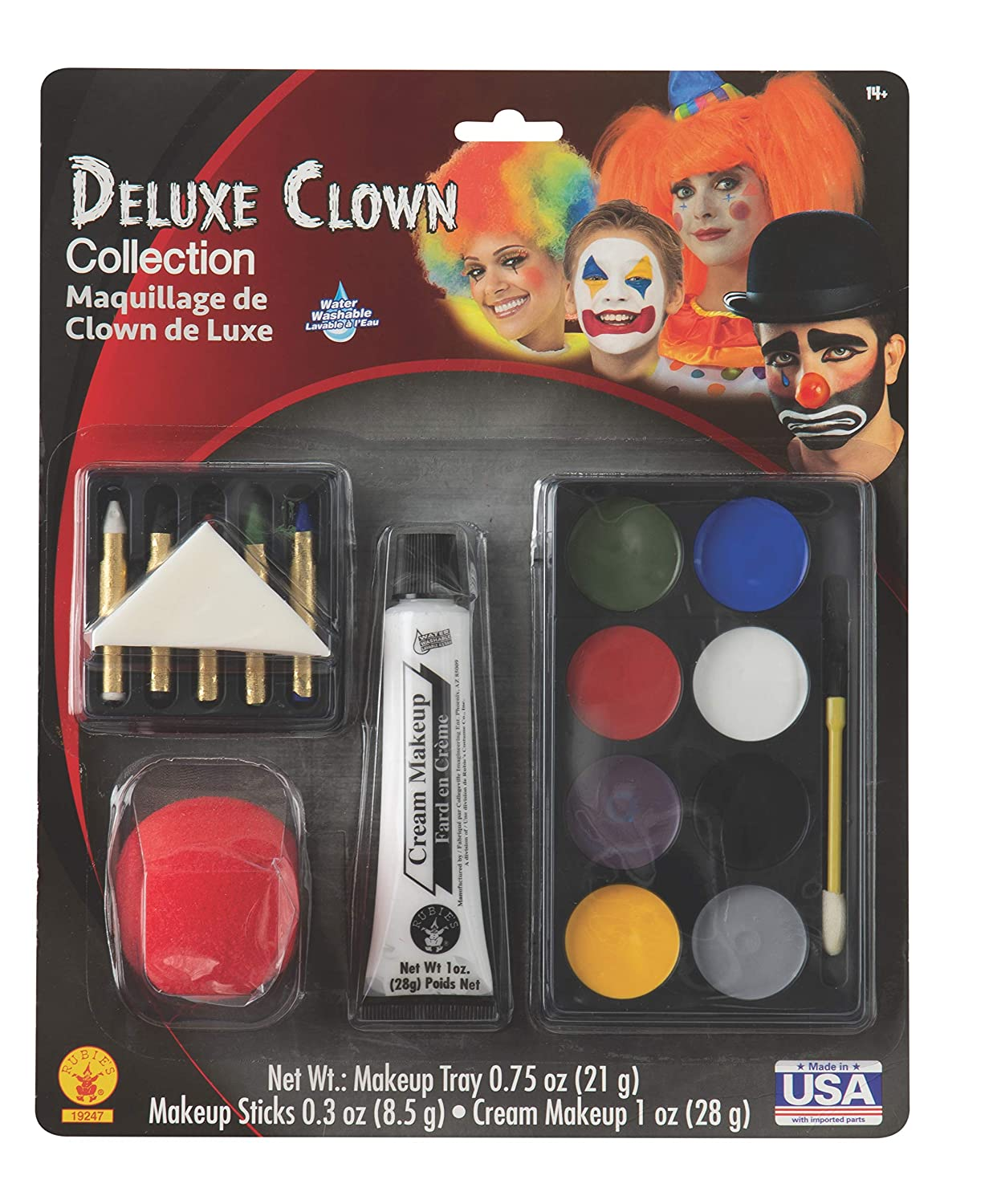 Rubies Deluxe Clown Make,Up Kit