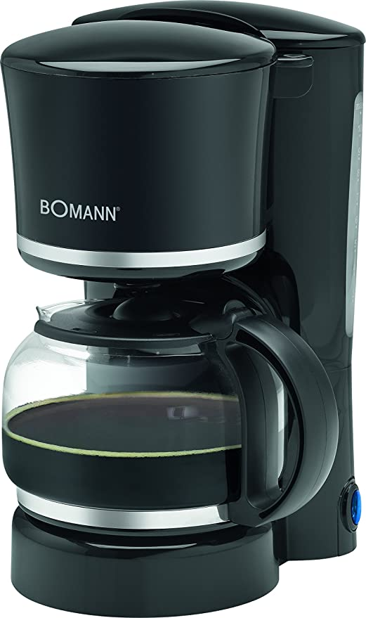 Bomann KA 1575 CB Cafetera de goteo, capacidad 8 a 10 tazas, 870 W, 1.25 litros, Negro