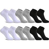 FALARY sportsokken sportsokken heren en dames 12 paar ademende hardloopsokken katoenen sokken