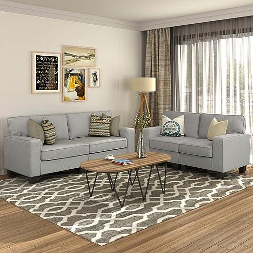 Amazon Com Meritine Living Room Set Of 2 2 Pcs Morden Style Livingroom Furniture Set Couch Loveseat Furniture Decor