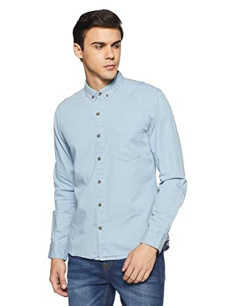 080cc44f8 Amazon Brand - Symbol Men's Plain Regular Fit Casual Shirts: Amazon.in:  Clothing & Accessories