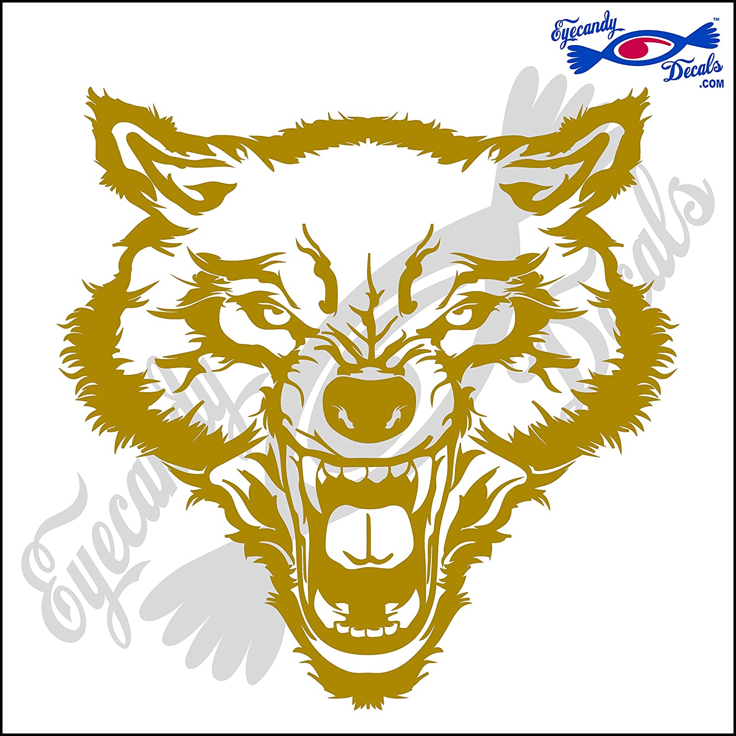 Amazon com eyecandy decals wolf 3 9 decal red automotive