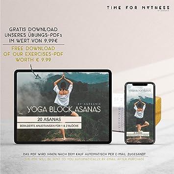 fran/çais non garanti Avec sac /à dos et instructions dexercice 1 ou 2 blocs de yoga pour le fitness et les pilates aGreenie Premium Bloc de yoga en li/ège 100 /% naturel