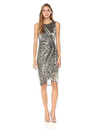 ea7bbf547105 T Tahari Women's Metallic Bellini Dress at Amazon Women's Clothing ...