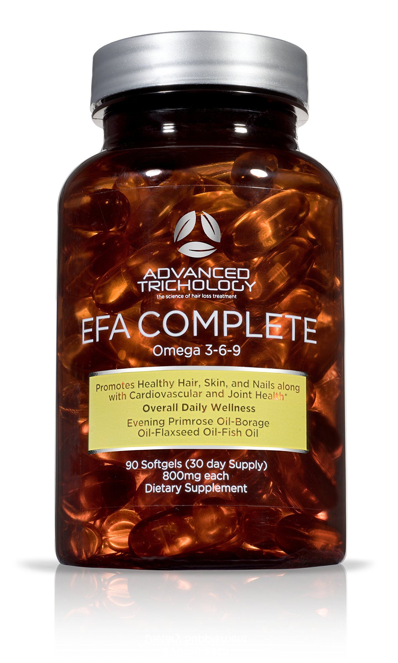 EFA COMPLETE with optimal OMEGA 369 levels of High Potency Flax Oil, Fish Oil, Borage Oil, and Evening Primrose Oil 800mgs (90count).