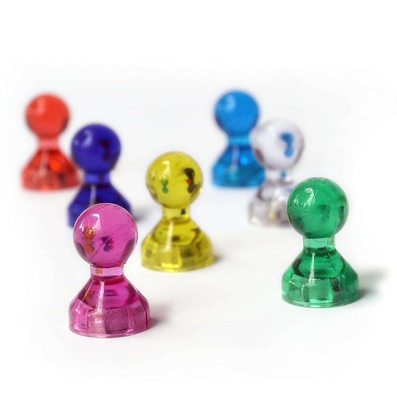 Magnet Pins 30 Neodym Pin Kegel-magnete Office Büro 6 Farben Ultrastarke Haftung Magneten