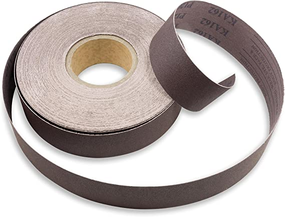 F Weighted Backing Fine Grade VSM Abrasives 1 X 50 Yard 120 Grit Aluminum Oxide Cloth Roll