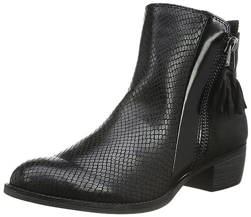 Marco Tozzi 25305, Botines para Mujer, Negro (Black Ant.Comb 096), 37 EU: Amazon.es: Zapatos y complementos