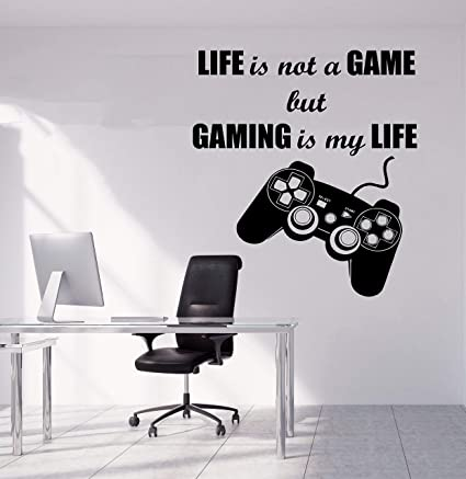 . Amazon com  Gamer Wall Decor for Boys Room   Gaming Decals Video