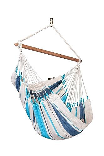 LA SIESTA Caribe a Aqua Blue – Cotton Basic Hammock Chair