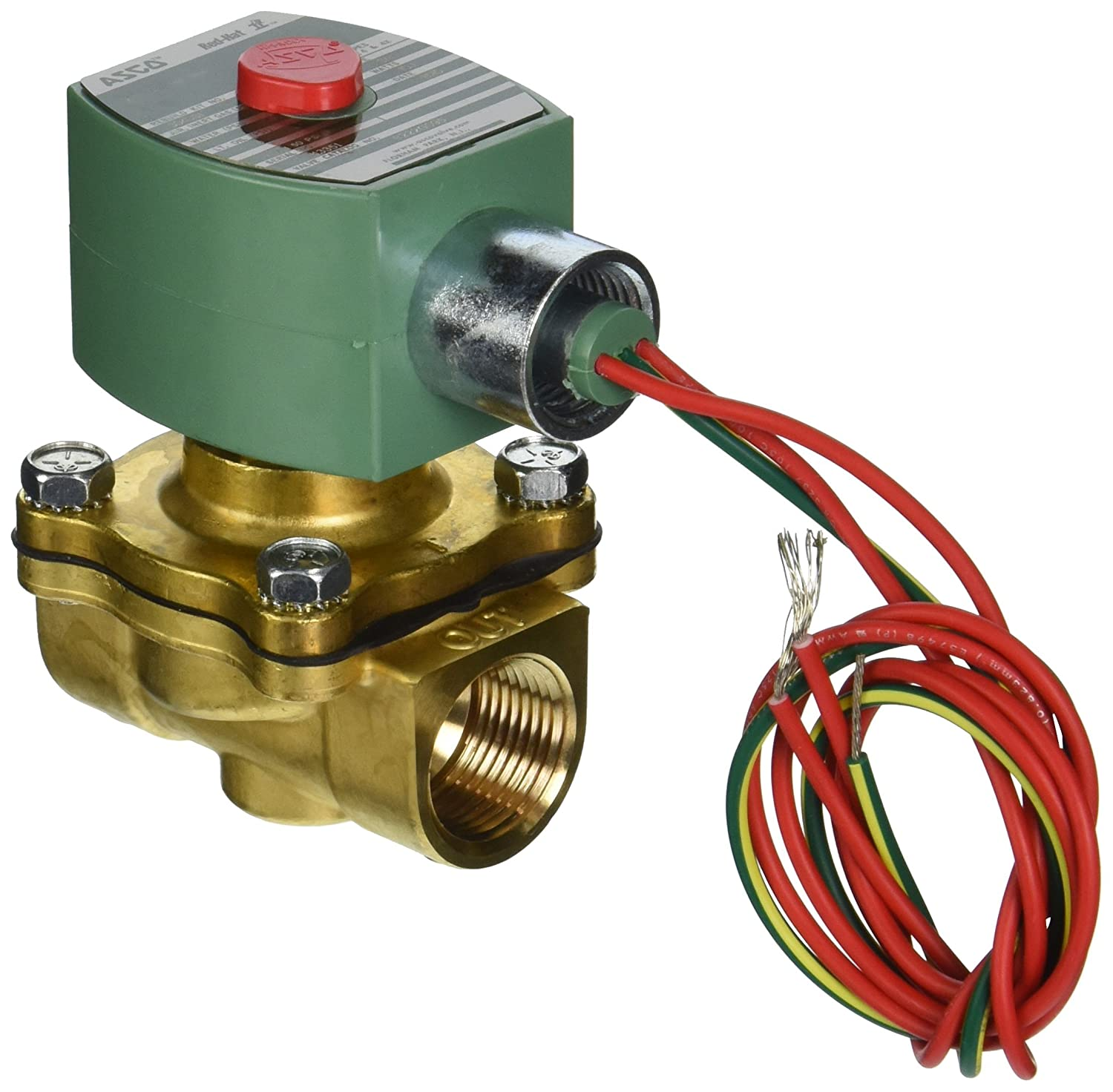 ASCO 8220G407-24//60 Brass Body Hot Water and Steam Pilot Operated Diaphragm and Piston Valve 50 psi Maximum Steam Operating Pressure 2-Way Normally Closed 3//4 Pipe Size 8.8 Cv Flow EPDM//PTFE Sealing 24V//60 Hz 3//4 Pipe Size 21924 3//4 Orifice