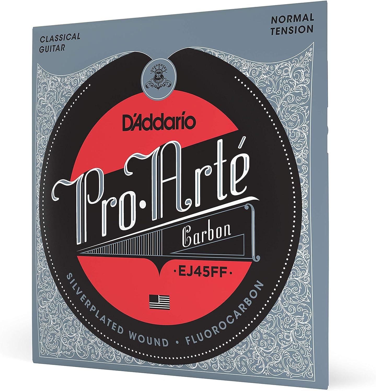 Cuerdas para Guitarra Clásica D'Addario EJ45FF ProArte Carbon, bajos Dynacore, Tensión Normal