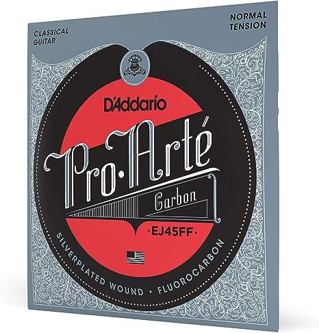 Cuerdas para Guitarra Clásica DAddario EJ45FF ProArte Carbon ...