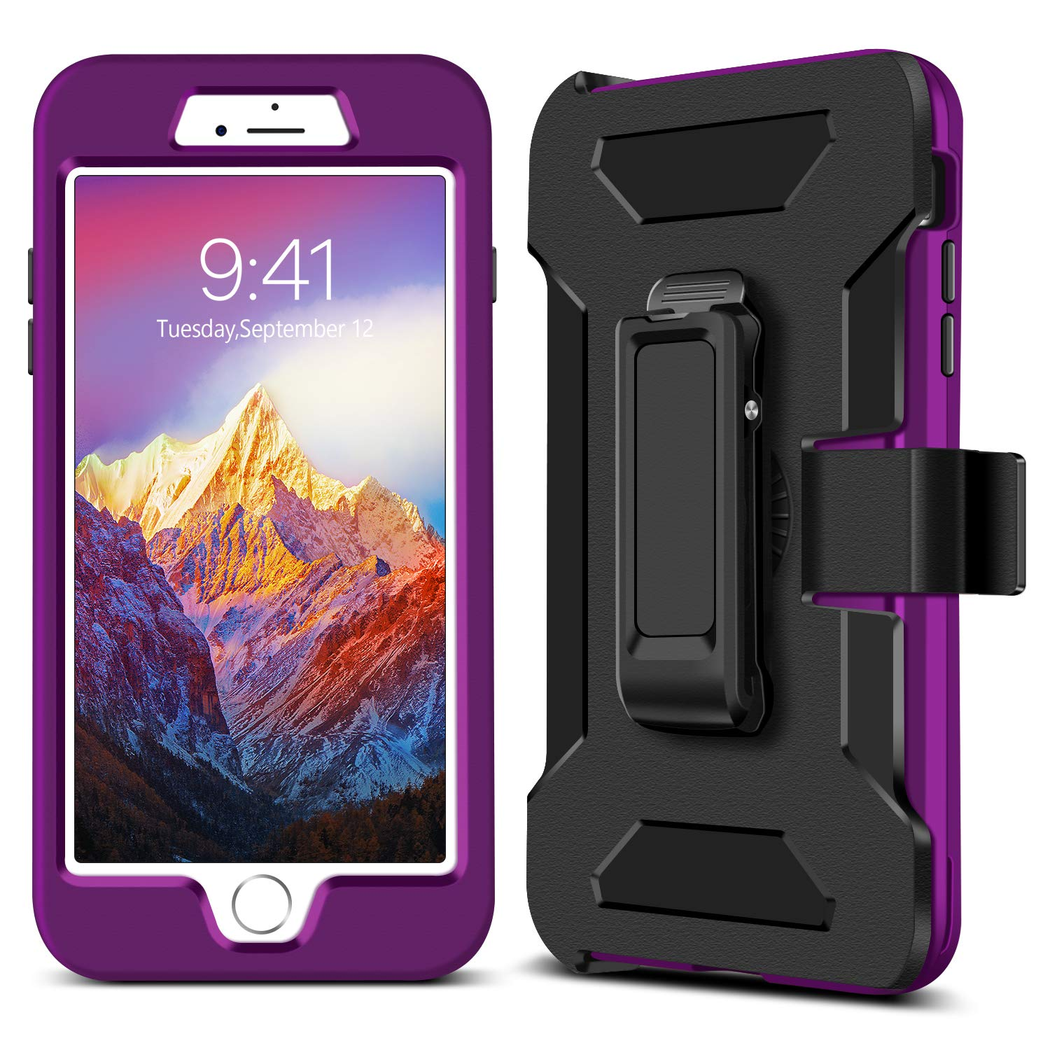 big sale db899 1668c GUAGUA iPhone 6 Plus Case iPhone 6S Plus Case 360 Degree Rotary Belt Clip  Kickstand Shockproof Hybrid Heavy Duty Protective Durable Phone Cases  Covers ...